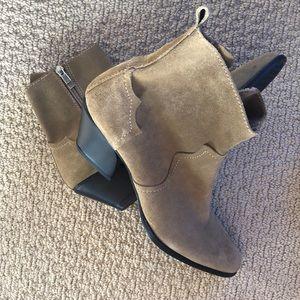 NWOT Zara leather booties